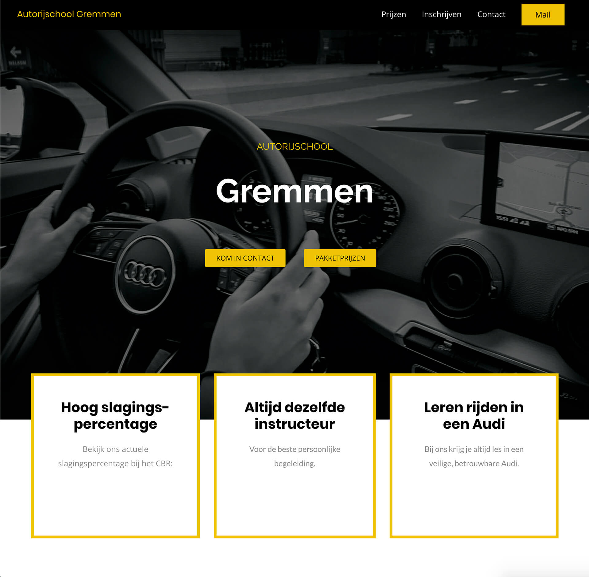 Webdesign autorijschool Gremmen Wijchen - Jelle Tijsse Klasen Webdesign